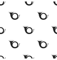 Hunting horn icon in black style isolated on white vector image