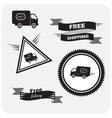 icons shipments and free delivery vector image