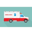 image of an white car Ambulance vector image
