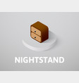 nightstand isometric icon isolated on color vector image