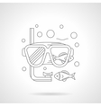 Snorkeling mask detailed line icon vector image