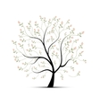 Spring tree with roses for your design vector image