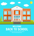 Welcome back to School background with place for vector image