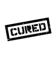 Cured rubber stamp vector image