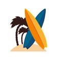 surfboard sport summer icon vector image