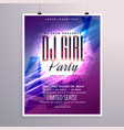 beautiful party flyer template with colorful vector image