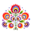 Folk Embroidery Flowers vector image