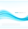 Blue abstract background with curved lines vector image