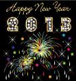 2013 with fireworks celebration vector image