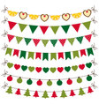 Christmas bunting and decoration set vector image
