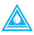 water drop triangular sign vector image