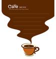 Coffee cup cafe menu design vector image