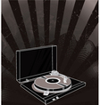 concert poster with turntable vector image