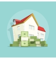 House with pile money home expense symbol vector image