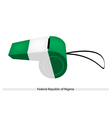 A Whistle of Federal Republic of Nigeria vector image