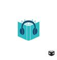 Audio book logo vector image