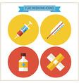 Flat Medicine Website Icons Set vector image