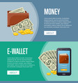 money income and online wallet flyers vector image