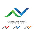 n letter logo template icon vector image