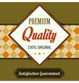 Premium Quality poster retro vintage design vector image