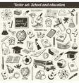 School And Education Doodles Collection vector image