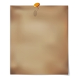 template Old sheet of paper with pin vector image