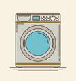 washing machine in flat stylemodern vector image