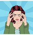 Woman has a Headache Woman Stress vector image