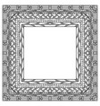 ethnic frame hand drawn elements vector image