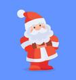 funny santa claus character cartoon icon vector image vector image