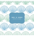 Abstract seashels stripes frame seamless pattern vector image vector image