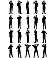 Business men silhouette set vector image vector image