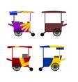 asian stree food cart vector image