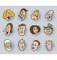 cartoon people faces vector image vector image