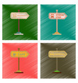 assembly flat shading style icons school stop vector image
