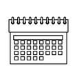 calendar date symbol vector image