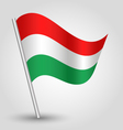 flag hungary vector image