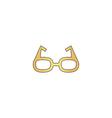 Glasses computer symbol vector image
