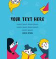 many children reading books flat vector image