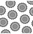 pattern of black silhouette abstract flower vector image