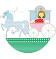 princess in a pink carriage vector image