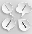 Spirit level White flat buttons on gray background vector image