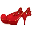 Red shoe pair vector image