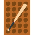 baseball bat leather glove vector image