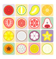 fruits and vegetables icons set 2 vector image