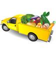 fruit truck vector image