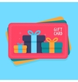 gift card in flat style vector image vector image