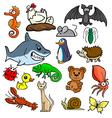 Cartoonish animals vector image