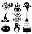 2 Halloween icons set vector image