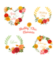 Flower Banners and Tags - for your design vector image